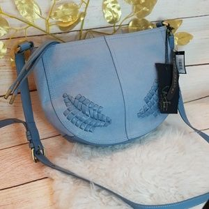 Elle & Jae Bags - NWT Elle & Jae vegan leather woven shoulder bag